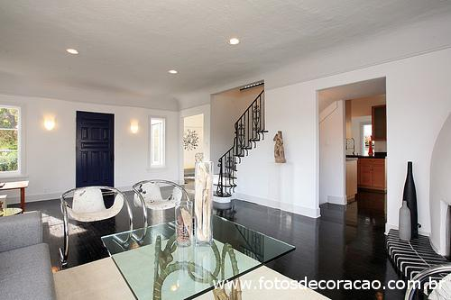 sala estar estilo moderno black white
